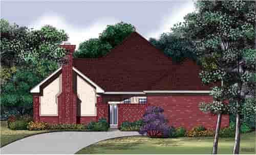 One-Story, Traditional House Plan 65699 with 2 Beds, 2 Baths, 2 Car Garage Elevation