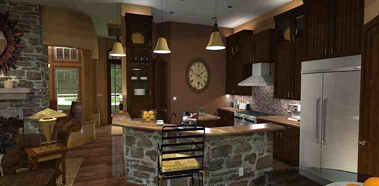 Cottage, Craftsman, Tuscan House Plan 65862 with 3 Beds, 3 Baths, 2 Car Garage Picture 10