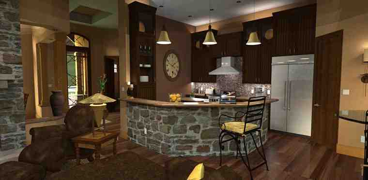 Cottage, Craftsman, Tuscan House Plan 65862 with 3 Beds, 3 Baths, 2 Car Garage Picture 12