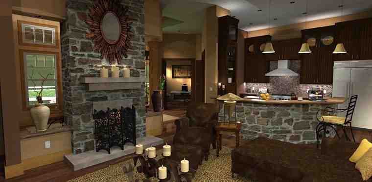Cottage, Craftsman, Tuscan House Plan 65862 with 3 Beds, 3 Baths, 2 Car Garage Picture 13