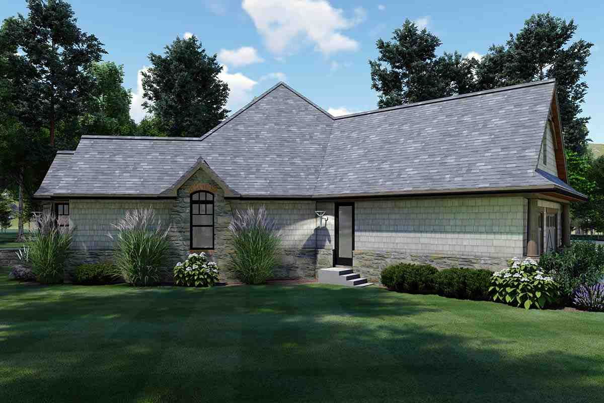 Cottage, Craftsman, Tuscan House Plan 65867 with 3 Beds, 2 Baths, 2 Car Garage Picture 2