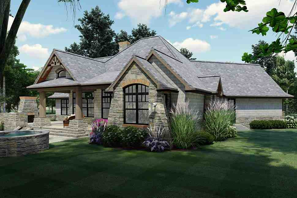Cottage, Craftsman, Tuscan House Plan 65867 with 3 Beds, 2 Baths, 2 Car Garage Picture 4