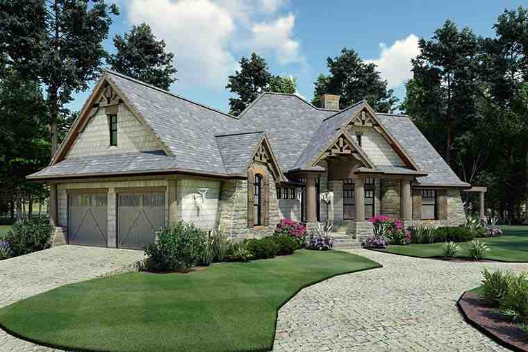 Cottage, Craftsman, Tuscan House Plan 65867 with 3 Beds, 2 Baths, 2 Car Garage Picture 5