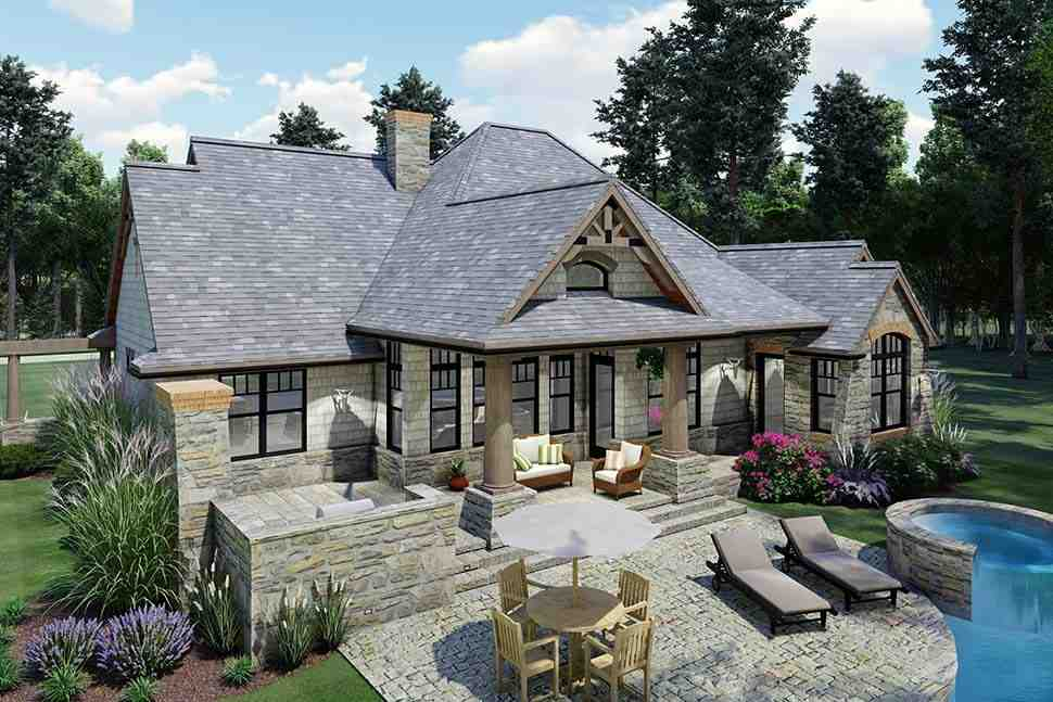 Cottage, Craftsman, Tuscan House Plan 65867 with 3 Beds, 2 Baths, 2 Car Garage Picture 7
