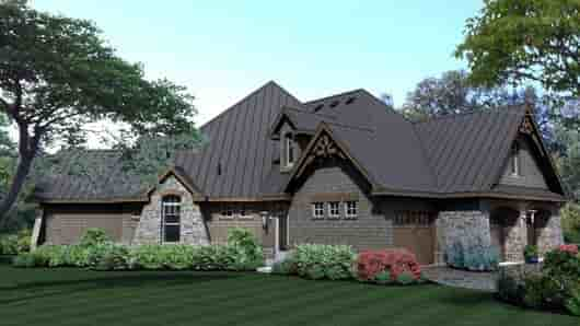 Cottage, Craftsman, Tuscan House Plan 65869 with 3 Beds, 3 Baths, 3 Car Garage Picture 8