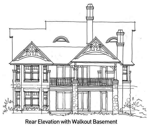 Bungalow, Cottage, Craftsman, Tuscan House Plan 65870 with 3 Beds, 2 Baths, 2 Car Garage Picture 13