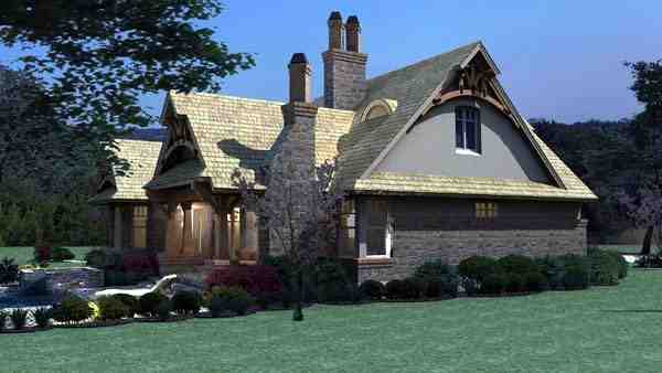 Bungalow, Cottage, Craftsman, Tuscan House Plan 65870 with 3 Beds, 2 Baths, 2 Car Garage Picture 11