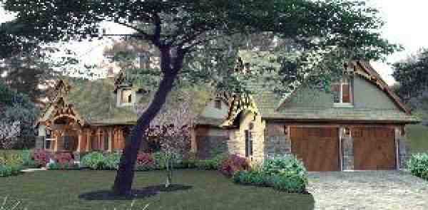 Bungalow, Cottage, Craftsman, Tuscan House Plan 65870 with 3 Beds, 2 Baths, 2 Car Garage Picture 8
