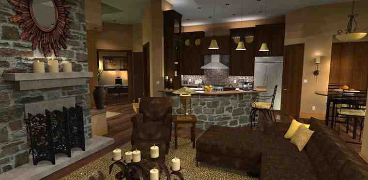Craftsman, Tuscan House Plan 65871 with 3 Beds, 3 Baths, 2 Car Garage Picture 14