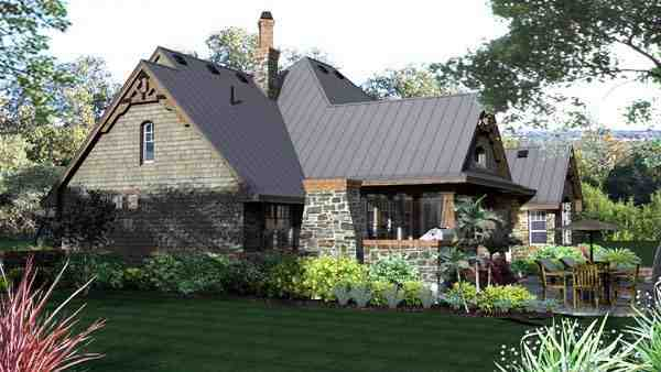 Craftsman, Tuscan House Plan 65871 with 3 Beds, 3 Baths, 2 Car Garage Picture 3