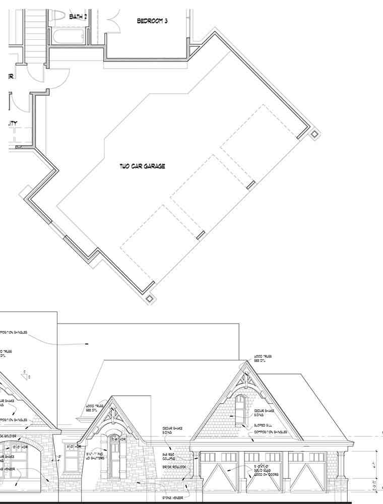 Craftsman, Tuscan House Plan 65888 with 3 Beds, 3 Baths, 2 Car Garage Picture 10