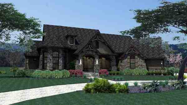 Craftsman, Tuscan House Plan 65888 with 3 Beds, 3 Baths, 2 Car Garage Picture 4