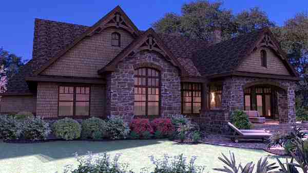 Craftsman, Tuscan House Plan 65888 with 3 Beds, 3 Baths, 2 Car Garage Picture 5