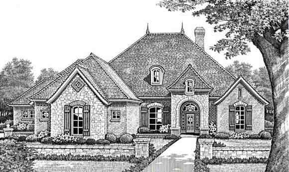 Traditional House Plan 66016 with 4 Beds, 4 Baths, 3 Car Garage Elevation