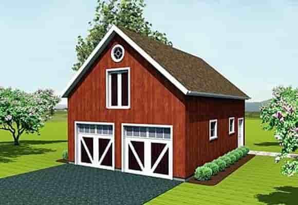 Farmhouse 2 Car Garage Apartment Plan 67279 Elevation