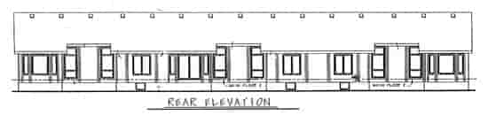 Ranch, Traditional Multi-Family Plan 68719 with 6 Beds, 6 Baths, 6 Car Garage Rear Elevation