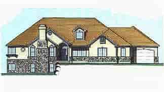 Traditional House Plan 70488 with 3 Beds, 3 Baths, 3 Car Garage Elevation