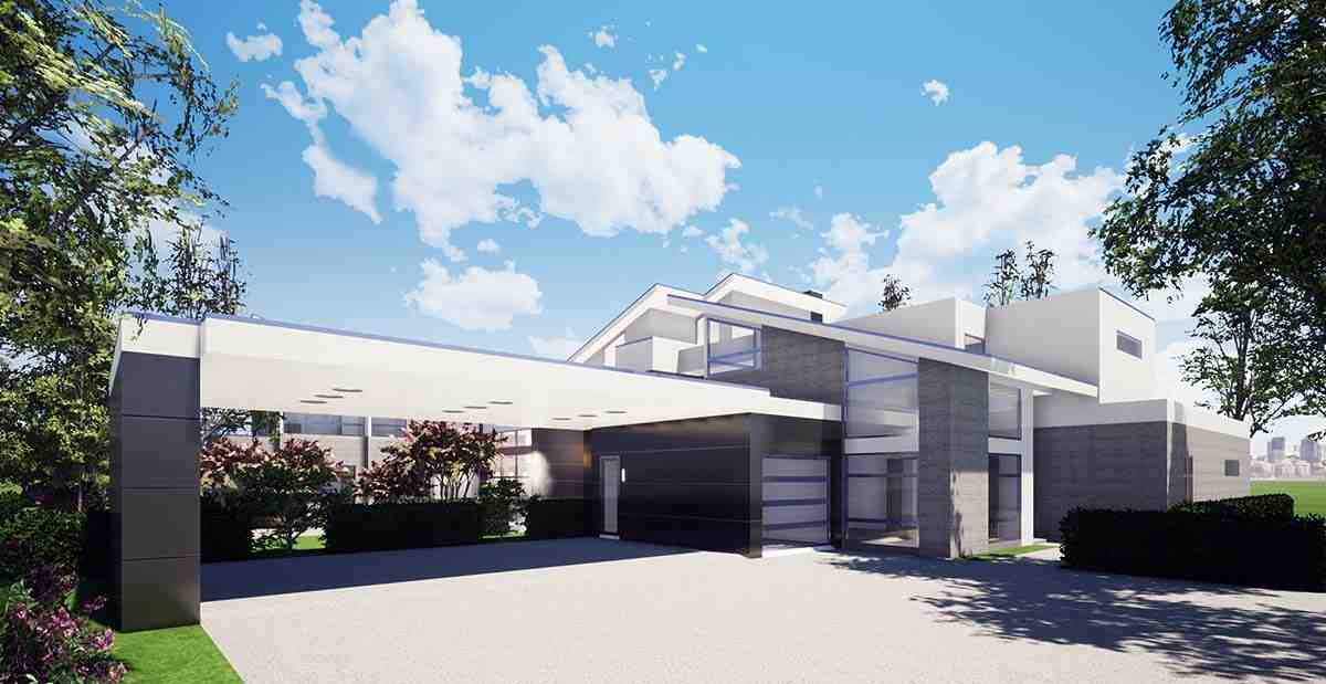 Coastal, Contemporary, Modern House Plan 70855 with 7 Beds, 9 Baths, 4 Car Garage Picture 1