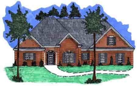 Victorian House Plan 71456 with 3 Beds, 3 Baths, 2 Car Garage Elevation