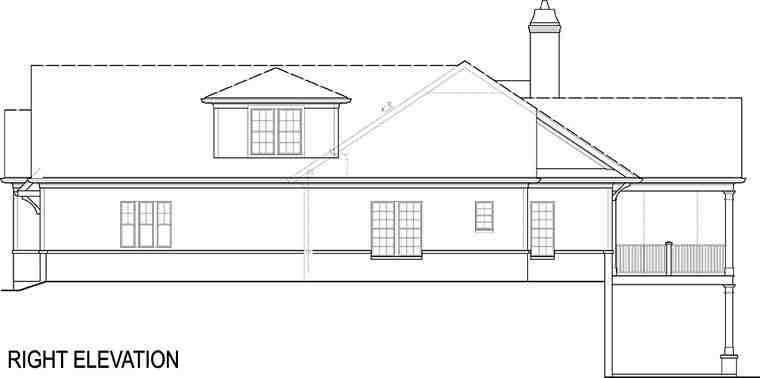 Cottage, Craftsman, Traditional House Plan 72220 with 4 Beds, 4 Baths, 2 Car Garage Picture 4
