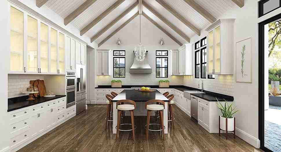 Country, Farmhouse, Southern House Plan 72252 with 3 Beds, 4 Baths, 2 Car Garage Picture 3