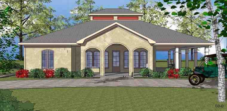 Coastal, Southern House Plan 72347 with 2 Beds, 3 Baths Elevation