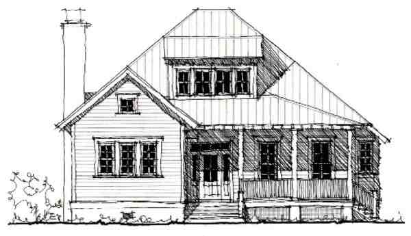 Country, Historic House Plan 73849 with 3 Beds, 3 Baths Elevation