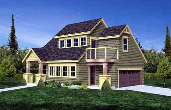 Craftsman 2 Car Garage Plan 74015 Elevation