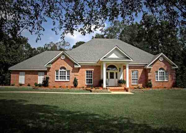 European House Plan 74620 with 4 Beds, 3 Baths, 2 Car Garage Elevation