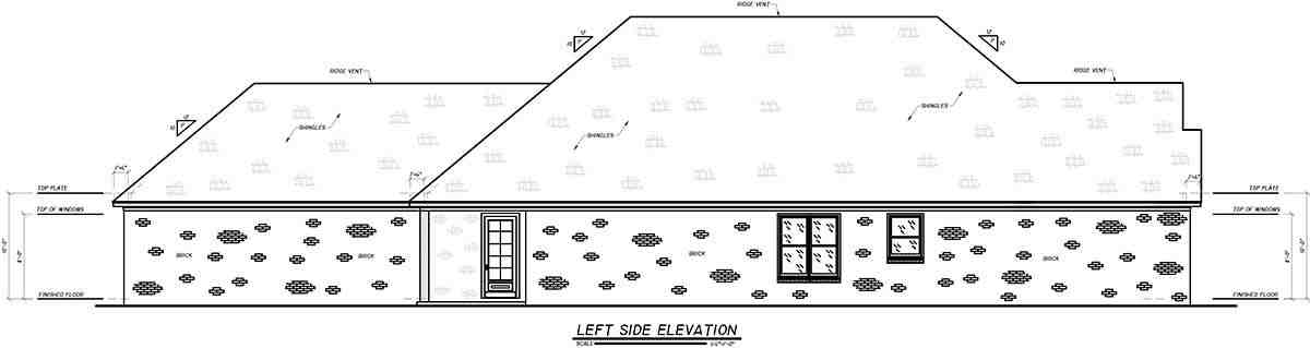 Craftsman, Narrow Lot, Traditional House Plan 74654 with 4 Beds, 3 Baths, 2 Car Garage Picture 2
