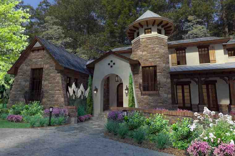 Craftsman, Tuscan House Plan 75132 with 3 Beds, 4 Baths, 2 Car Garage Picture 1