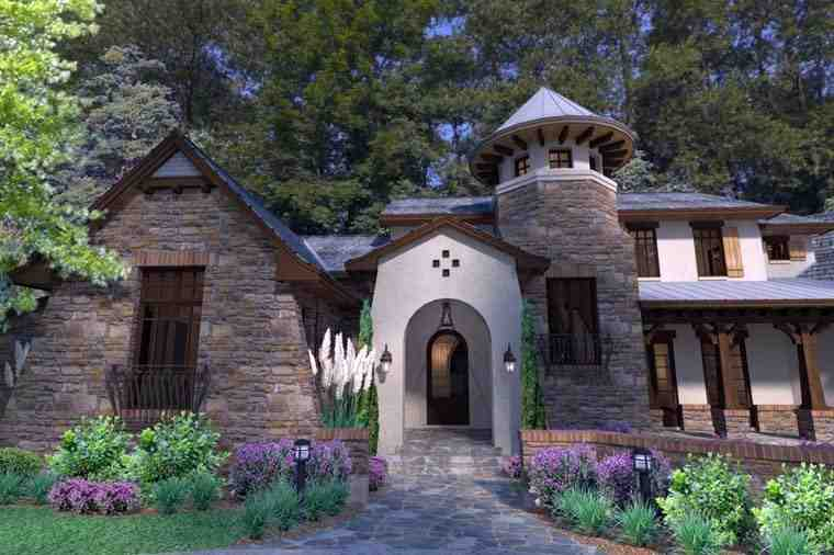 Craftsman, Tuscan House Plan 75132 with 3 Beds, 4 Baths, 2 Car Garage Picture 2