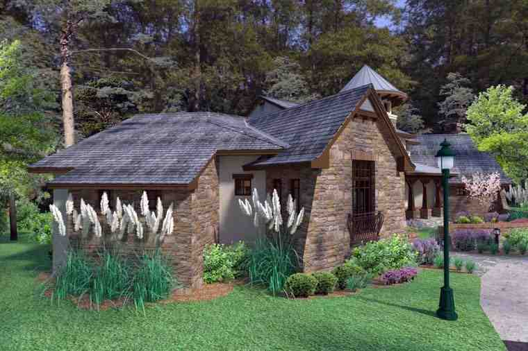Craftsman, Tuscan House Plan 75132 with 3 Beds, 4 Baths, 2 Car Garage Picture 3