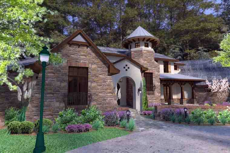 Craftsman, Tuscan House Plan 75132 with 3 Beds, 4 Baths, 2 Car Garage Picture 6