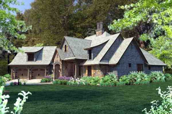 Cottage, Craftsman, Tuscan House Plan 75134 with 4 Beds, 4 Baths, 2 Car Garage Picture 59