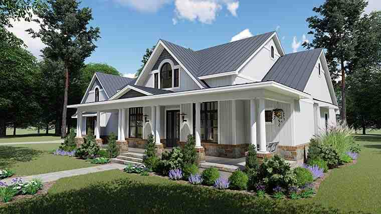 Country, Farmhouse, Southern House Plan 75154 with 3 Beds, 3 Baths, 2 Car Garage Picture 5