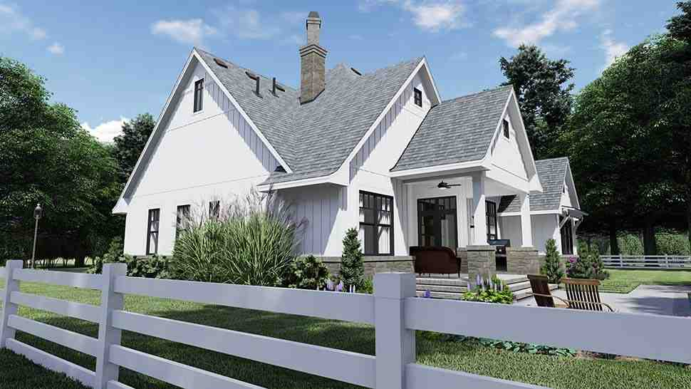 Country, Farmhouse, Southern House Plan 75156 with 4 Beds, 4 Baths, 2 Car Garage Picture 4