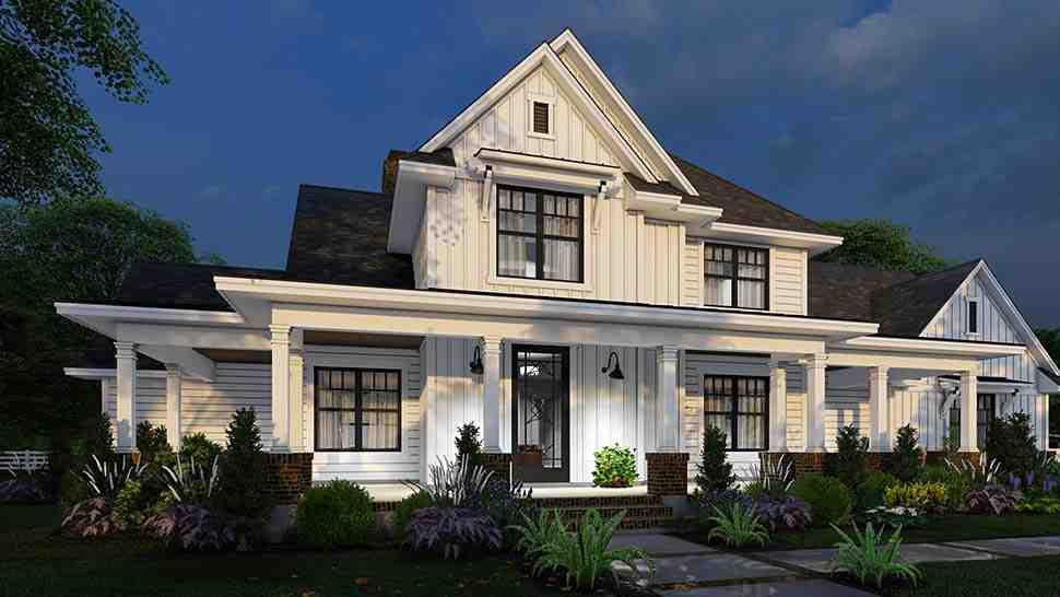 Country, Farmhouse House Plan 75164 with 4 Beds, 4 Baths, 3 Car Garage Picture 13