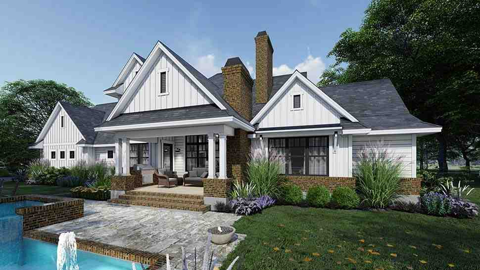 Country, Farmhouse House Plan 75164 with 4 Beds, 4 Baths, 3 Car Garage Picture 2