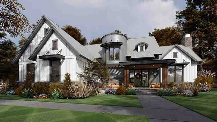 Country, Farmhouse House Plan 75165 with 3 Beds, 3 Baths, 2 Car Garage Picture 5