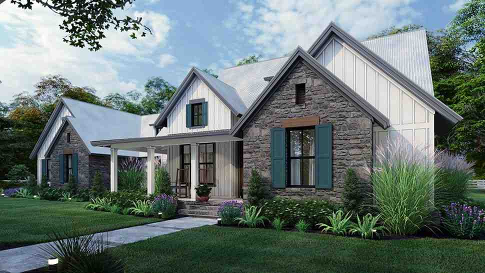 Cottage, Farmhouse, Southern, Traditional House Plan 75166 with 3 Beds, 3 Baths, 2 Car Garage Picture 3