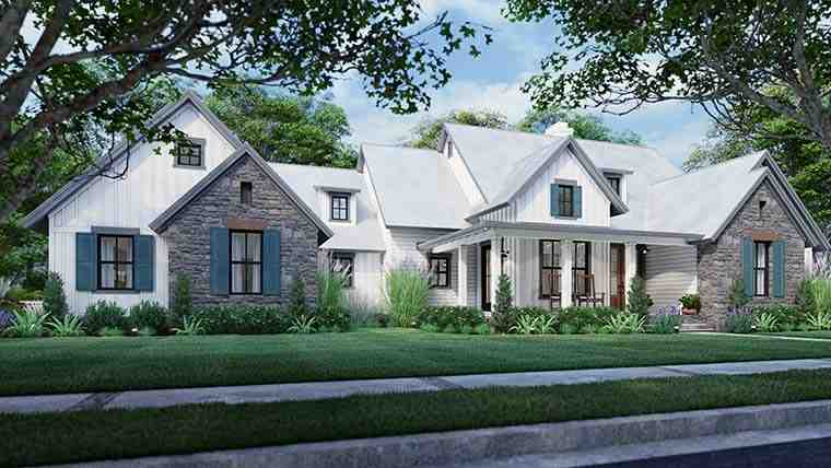 Cottage, Farmhouse, Southern, Traditional House Plan 75166 with 3 Beds, 3 Baths, 2 Car Garage Picture 5