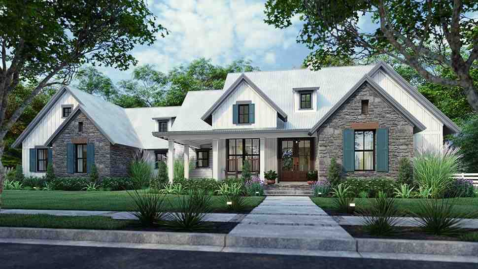 Cottage, Farmhouse, Southern, Traditional House Plan 75166 with 3 Beds, 3 Baths, 2 Car Garage Picture 7