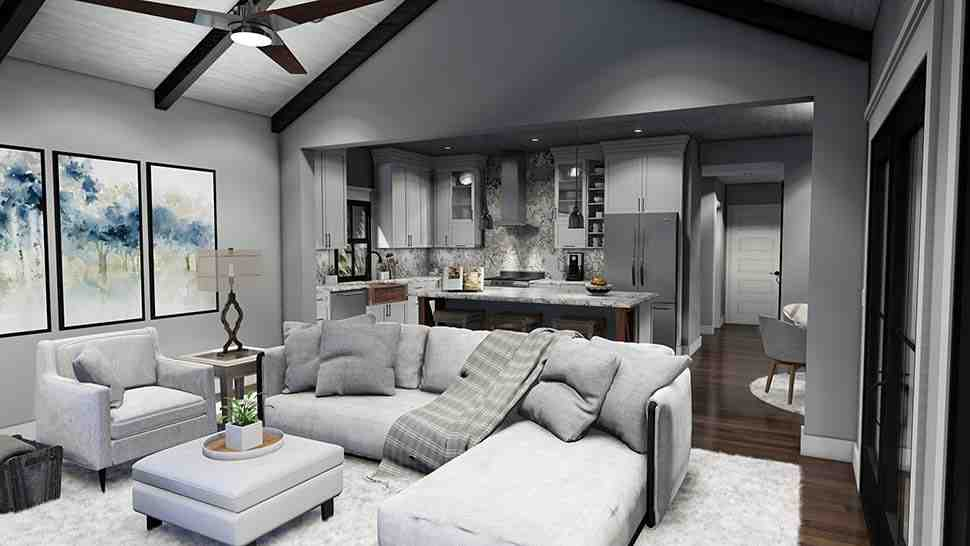 Cottage, Country, Farmhouse, Southern House Plan 75167 with 3 Beds, 3 Baths, 2 Car Garage Picture 14