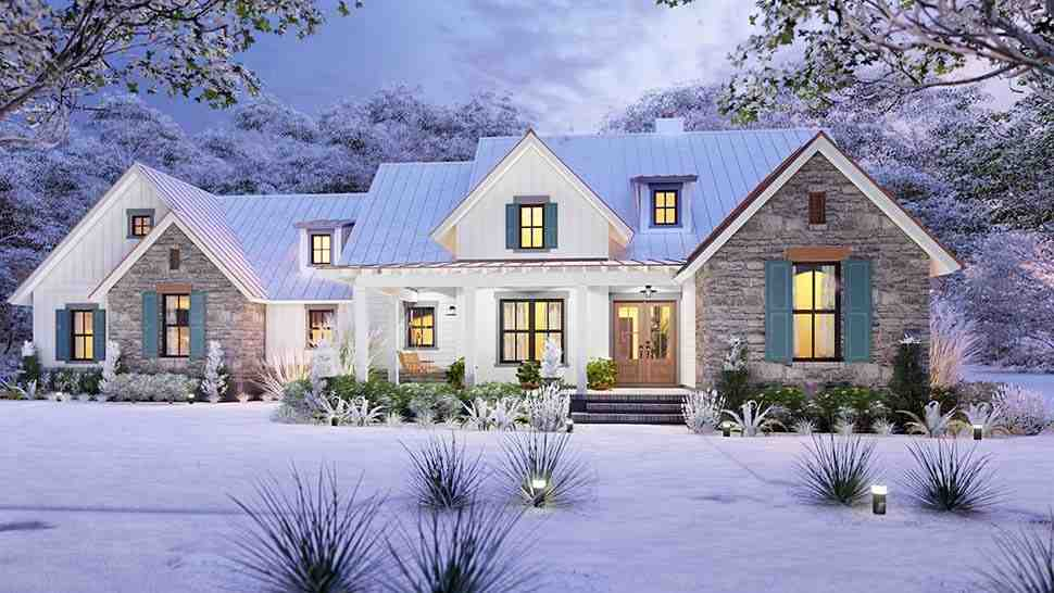 Cottage, Country, Farmhouse, Southern House Plan 75167 with 3 Beds, 3 Baths, 2 Car Garage Picture 3