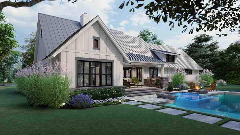 Cottage, Country, Farmhouse, Southern House Plan 75167 with 3 Beds, 3 Baths, 2 Car Garage Picture 4