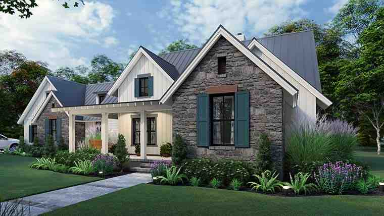 Cottage, Country, Farmhouse, Southern House Plan 75167 with 3 Beds, 3 Baths, 2 Car Garage Picture 5