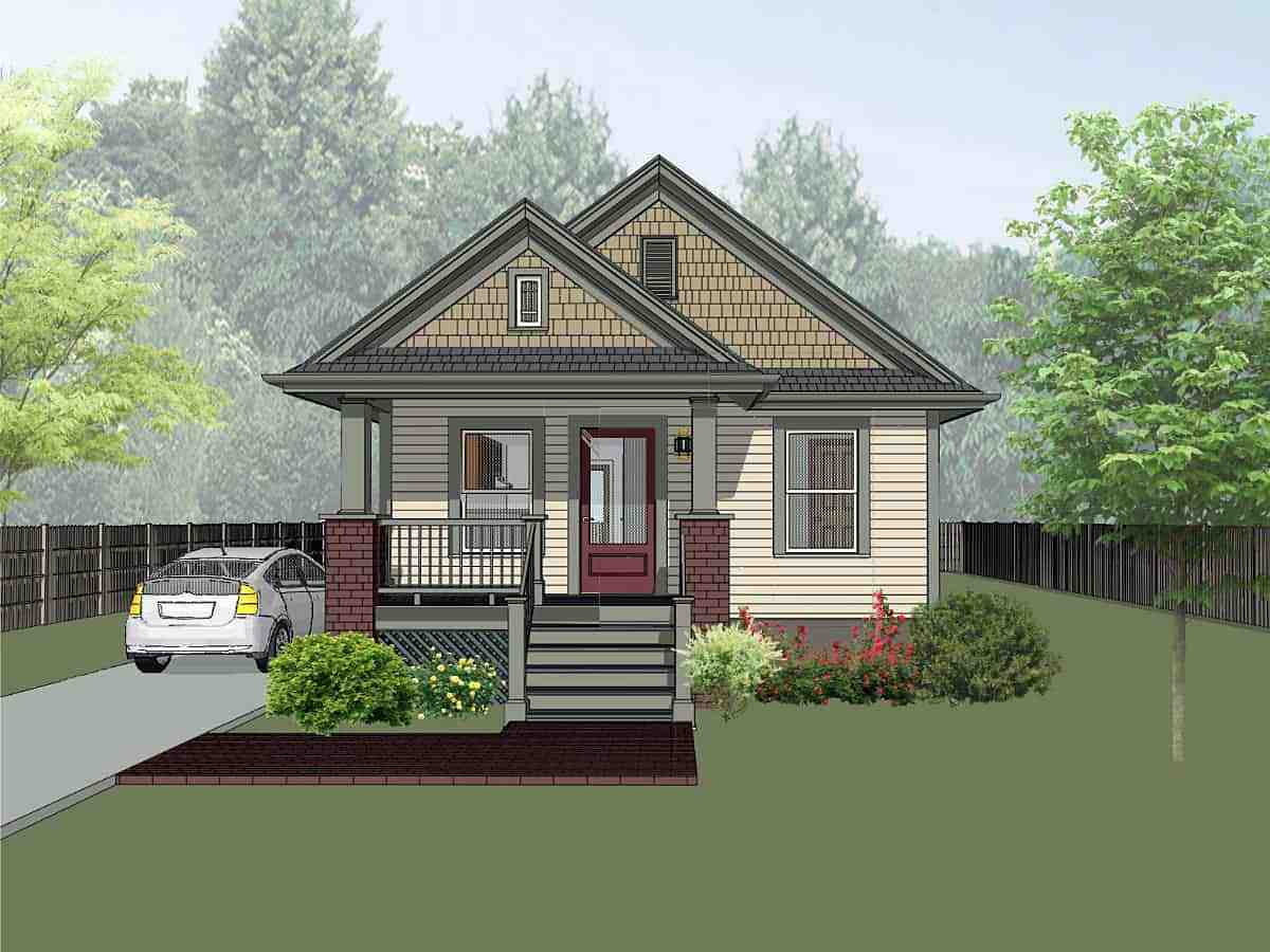 Bungalow, Craftsman House Plan 75511 with 2 Beds, 1 Baths Elevation