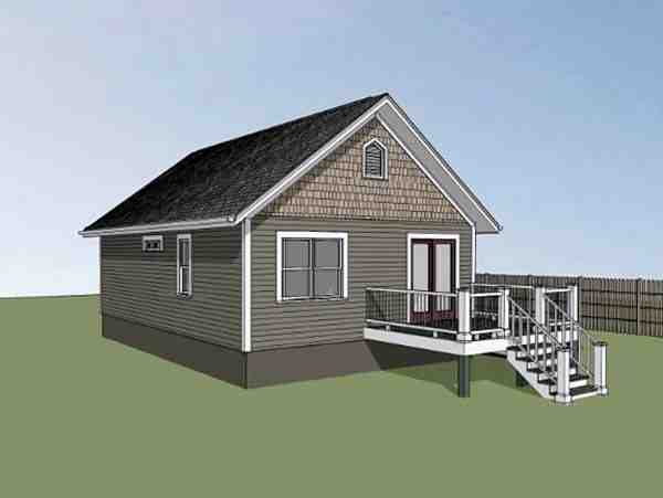 Bungalow, Colonial, Cottage House Plan 75512 with 2 Beds, 1 Baths Picture 1