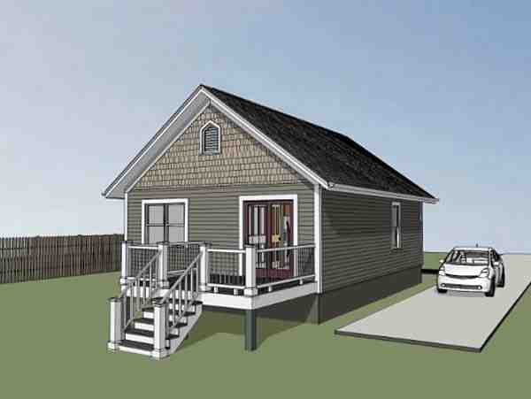 Bungalow, Colonial, Cottage House Plan 75512 with 2 Beds, 1 Baths Picture 2